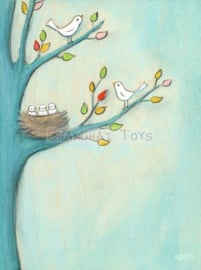 KK ( postcard baby birds )