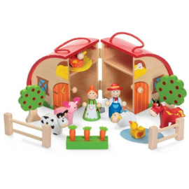 H 075 ( wooden farm set )
