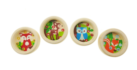 H 037 ( wooden forest friend ball game ) ----- 24 pcs in display