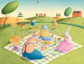 KK ( postcard animals picnic )