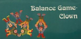 H 077 ( wooden balance game clown )