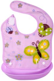 YW 010 ( baby detachable bib purple butterfly )