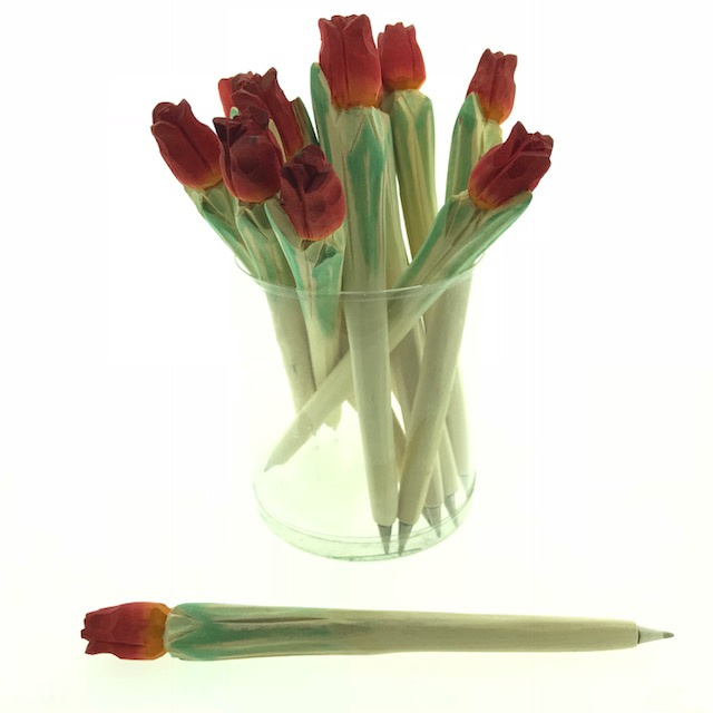 CW 9798 ( wooden carving's pen tulp )