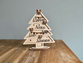 Gepersonaliseerde kerstboom met namen