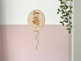 Geboortebordje ballon