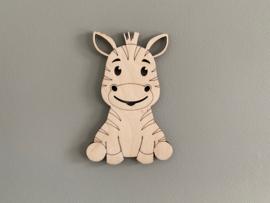 Houten figuur zebra