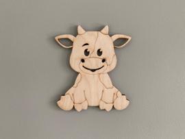 Houten figuur koe