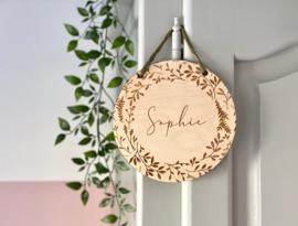 Naambordje van hout | Botanisch