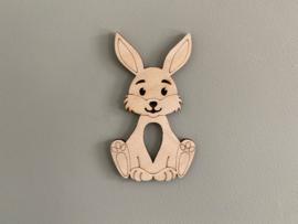 Houten figuur konijn