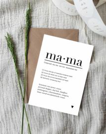 Ansichtkaart || Mama