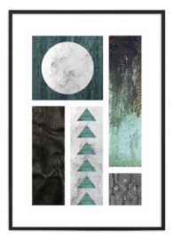 Poster - Black & Green Collage