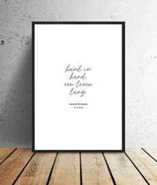 Trouwposter - Hand in hand