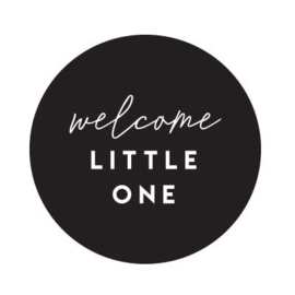 Sluitstickers geboorte - Welcome little one - per 10
