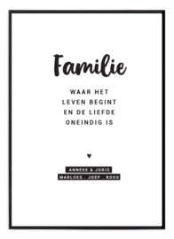 Familieposter - Familie