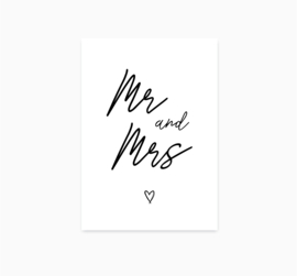 Ansichtkaart || Mr & Mrs