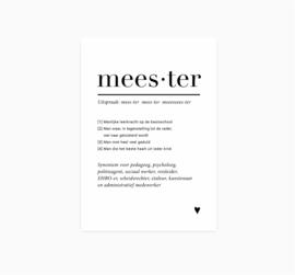 Ansichtkaart || Meester