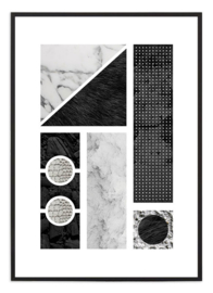 Poster - Black & white Collage