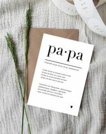 Ansichtkaart || Papa