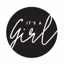 Sluitstickers - it's a girl  - per 10