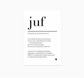 Ansichtkaart || Juf