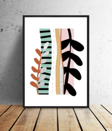 Poster abstract collage - stripes