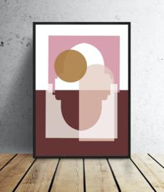 A3 Poster - Marrakech Zonsopgang - Terracotta/Roze