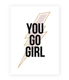 Kaart You go girl  | A5