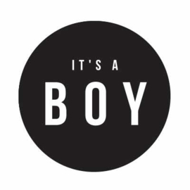 Sluitstickers - it's a boy  - per 10