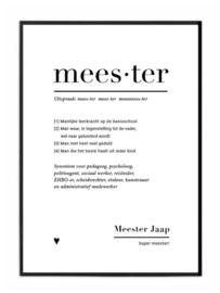 gepersonaliseerde A4 poster - MEESTER