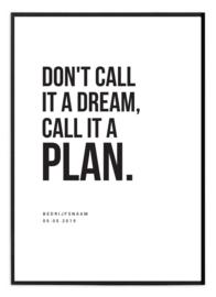 Gepersonaliseerde poster voor ondernemer - Dream/plan