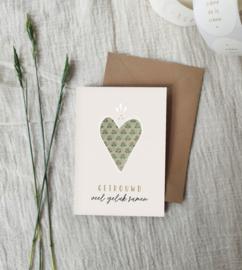 Dubbele wenskaart + envelop | getrouwd | veel geluk samen