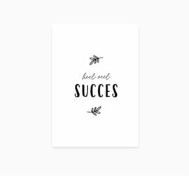 Ansichtkaart || Heel veel succes