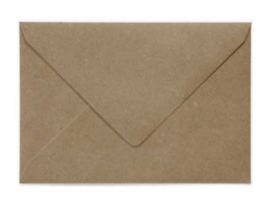 Gerecyclede kraft envelop  - 162 x 229 mm (A5)