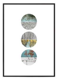 Poster - Circles - Groen