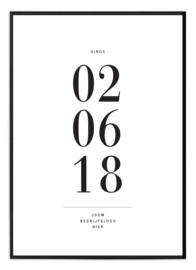 Gepersonaliseerde poster voor ondernemer - Datum