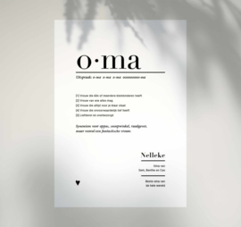 Familieposter - OMA