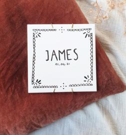 Gepersonaliseerde geboortetegel James