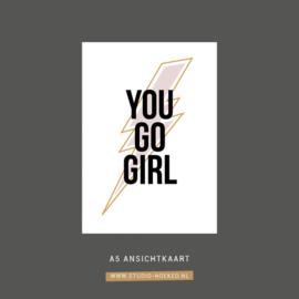 Kaart You go girl  | A5