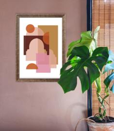 A3 Poster - Marrakech - Terracotta/Roze
