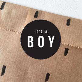 Sluitstickers - it's a boy  - per 10