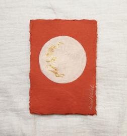 Volle maan  - Terra/beige - A6