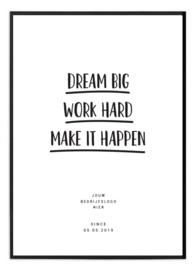 Gepersonaliseerde poster voor ondernemer - Make it happen