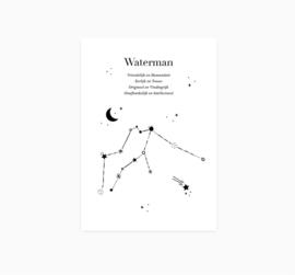 Ansichtkaart || Sterrenbeeld || Waterman