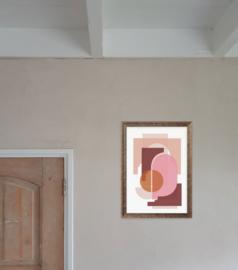 A3 Poster - Marrakech Shapes - Terracotta/Roze
