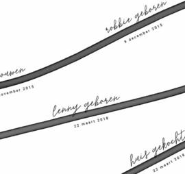 Familieposter - Tijdlijn