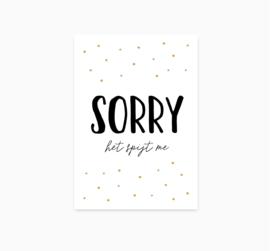 Ansichtkaart ||  Sorry || A6