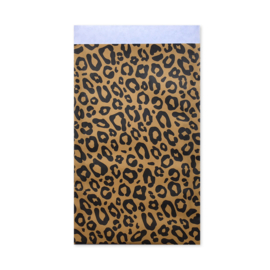 Kadozakjes Okergeel Leopard | 12x19 | per 5 stuks