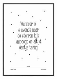 Herinnerings poster - Sterren