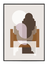 A3 Poster - Marrakech - Zonsondergang - Beige