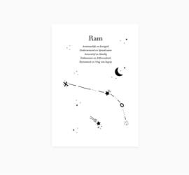 Ansichtkaart || Sterrenbeeld || Ram